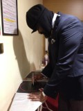 Gregory Porter signing posters